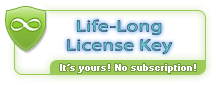 Life-Long License Key. The key is yours for a lifetime, it will not expire. We don't sell subscriptions. Licenses are linked only to program version, which imposes no limit on usage period.