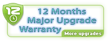 12 Month Major Upgrade Guarantee. Stay worry-free about paid upgrades.